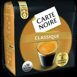 Café en dosettes n°5 CARTE NOIRE, 36 unités, 250g