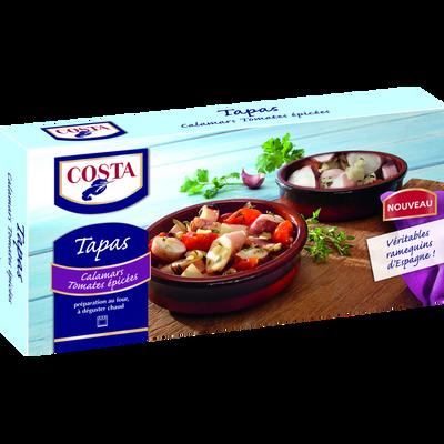 Tapas de calamars tomates et épices COSTA, 220g