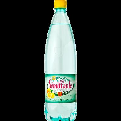 Eau gazeuse au citron SEMILLANTE, bouteille 1.25l