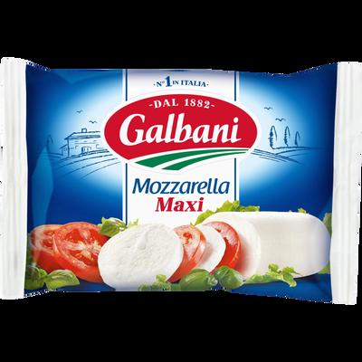 Fromage Italien à pâte molle filée fraîche pasteurisé Mozzarella maxi,GALBANI, 19% de MG, 250g