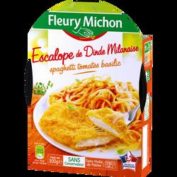 Escalope milanaise et spaghetti à la sauce tomate FLEURY MICHON, 300g