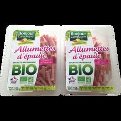 Allumettes d'épaule cuite BIO BONJOUR CAMPAGNE, paquet de 150g