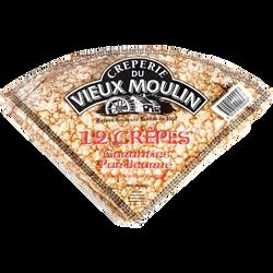 Crêpes pur beurre VIEUX MOULIN sachet de 12, 340g