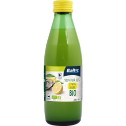Pur jus de citron jaune bio BALTIC, avec bouchon verseur 25cl