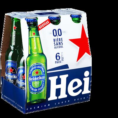 Bière sans alcool, HEINEKEN, 0,00° 6 bouteilles de 25cl