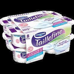 Recette au fromage blanc nature enrichie en vitamine D TAILLEFINE, 8x100g