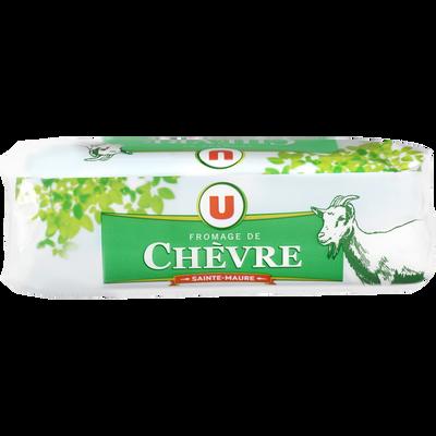 Fromage au lait pasteurisé Bûche de chèvre Ste Maure U, 25% de MG, 200g