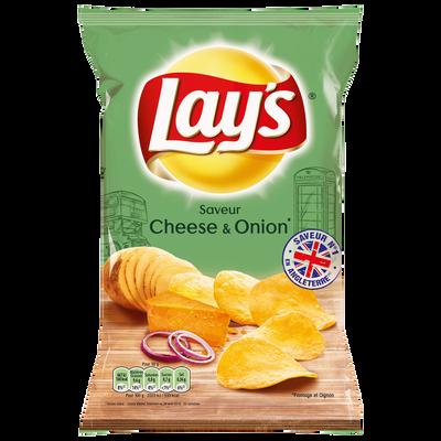 Chips saveur cheese & onion LAY'S, sachet de 120g