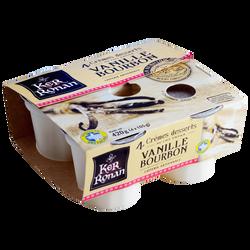 Crème dessert vanille bourbon KER RONAN, 4x105g