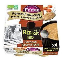 Riz au lait caramel au beurre salé, LA FERME D'ANA SOIZ, 4x125g