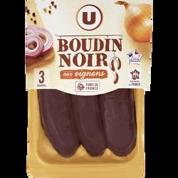 Boudin noir aux oignons U, 3x125g