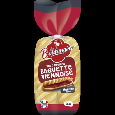 Baguettes viennoises LA BOULANGERE, 4 unités, 340g