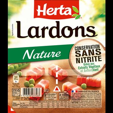 Herta Dés De Lardons Nature Sans Nitrite Herta, 2x75g