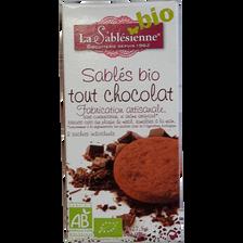 Sablé tout chocolat Bio BISCUITERIE LA SABLESIENNE, 55g