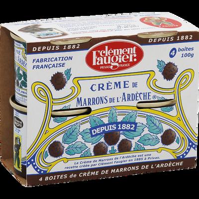 Crème marron CLEMENT FAUGIER, 4 pots de 100g soit 400g