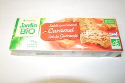 JB sablé caramel au sel de Guérande Jardin Bio 150g