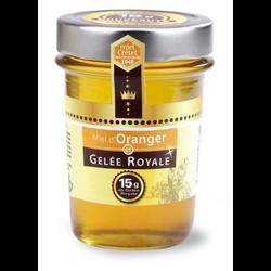 Miel d'oranger et gelée royale MIEL CRETET, 250g