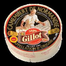 Camembert de Normandie au lait cru GILLOT, 22% de MG, 250g
