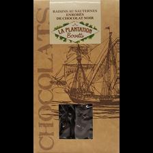 Raisins au Sauterne enrobées de chocolat noir, LA PLANTATION BOVETTI,sachet 120g