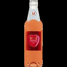 Boisson aromatisée à base de vin rosé et fraise, U, bouteille de 75cl