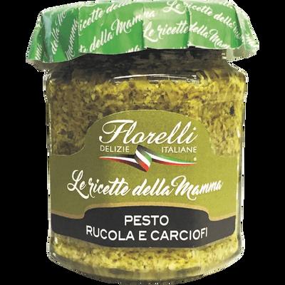 Sauce à base de tomates séchées, de roquette et d'Huile d'Olive FLORELLI, 200g