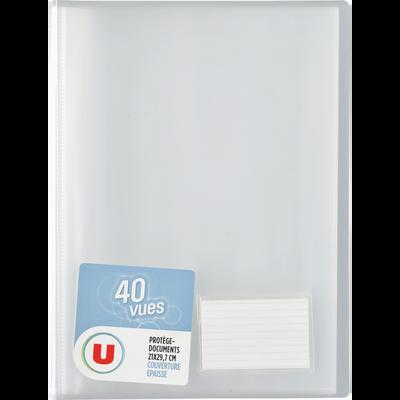 Protège document 40 vues, format A4, coloris assortis