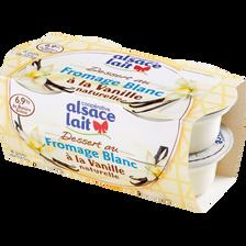 Fromage blanc à la vanille ALSACE LAIT, 4x125g