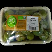 Prune jaune Reine Claude, BIO, Calibre 30/35, France, Barquette 500g