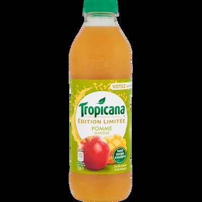 Pure jus de pomme mangue Prémium TROPICANA, bouteille de 1l