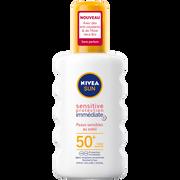 Nivea Spray Sensitive Spf50 + Nivea Sun 200ml