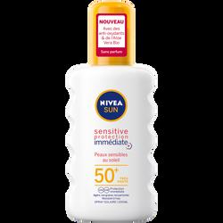 Spray sensitive SPF50 + NIVEA sun 200ml