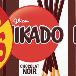 Biscuits chocolat noir MIKADO, paquet 4x90g + 2 paquet offerts 540g
