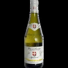 Vin blanc de Savoie AOC Apremont Feuille d'Or cuvée réserve, bouteillede 75cl