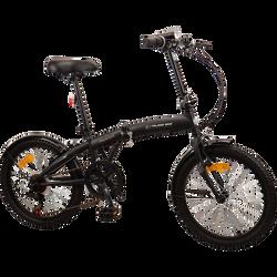 Vélo noir pliant, 20 pouces