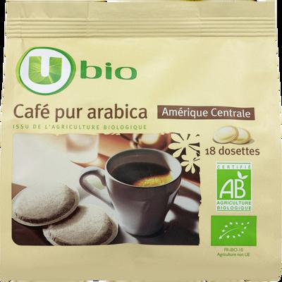 Café Amérique centrale U BIO, 18 dosettes de 7g, 125g