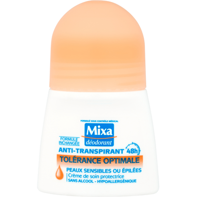 Déodorant tolérance optimale MIXA, bille de 50ml