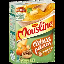 MOUSLINE, céréales potiron, 2 sachets de 100g