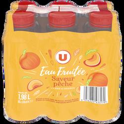 Boisson à l'eau de source aux jus de fruits abc - Aromatisée saveurPêche MAT&LOU 6x33cl