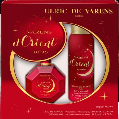 Coffret varens d'orient rubis ULRIC DE VARENS, eau de parfum de 50ml +déodorant de 125ml