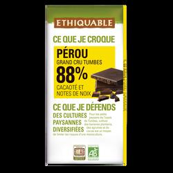 CHOCOLAT NOIR 88% CACAO BOLIVIE BIO 100G