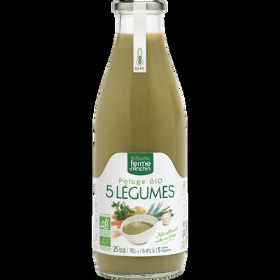 Potage aux 5 légumes, BIO, 985ml