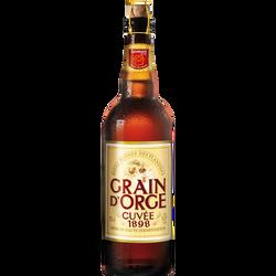 Bière blonde GRAIN D'ORGE, 8,5°, bouteille de 75cl