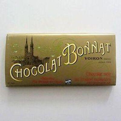 Chocolat noir au beurre de cacao BONNAT ,100gr