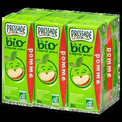 Nectar de pomme bio PRESSADE, 6x20cl