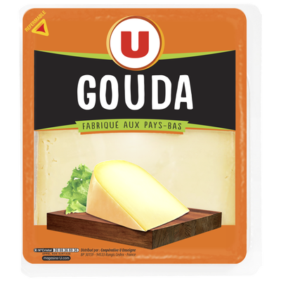 Gouda au lait pasteurisé U, 30%MG, 250g