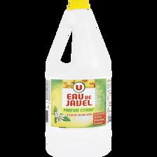 Eau de javel parfum citron U, bidon 2 litres