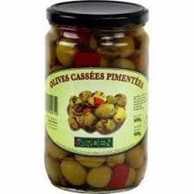 Olives Cassées Pimentées CASHER 400G