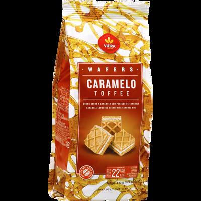 Gaufrette caramel avec éclats de caramel VIEIRA DE CASTRO, sachet de 125g