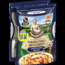 Parmareggio Parmaggio Reggiano Dop Râpé Lait Cru De Vache 29% De Matière Grasse , 2x60g