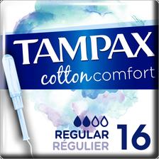 Tampon cotton comfort régular TAMPAX, x16
